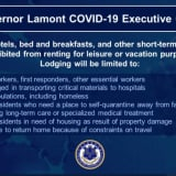 COVID-19: Executive Order Reserves CT Hotels, Short-Term Rentals For Essential Workers