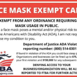 COVID-19: Alert Issued For Fake Mask Exempt Cards Being Sold Online