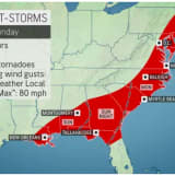 Severe Weather Alert: Wind Gusts Up To 70 MPH, Isolated Tornadoes Possible From Major Storm