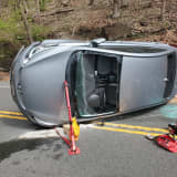 PHOTOS: Driver Rescued From Vehicle In Hunterdon County Crash On Route 29