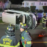 Driver Extricated, Hospitalized In Morris County Rollover Crash