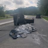 Traffic Alert: Overturned Trailer Shuts Main Road In Sussex County