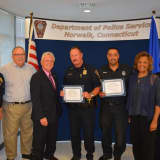 Norwalk Officers Honored For Saving Boater From The Sound