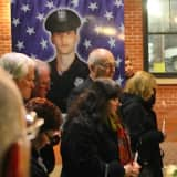 Spotlights Shine For Fallen Cliffside Park Police Officer