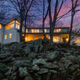 NYC Skyline Offers Nightlight Views For Lofted Chappaqua Home