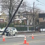 Hackensack Driver, 69, Hospitalized After SUV Rams Utility Pole On Route 1/9 In Ridgefield