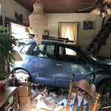 Car Slams Into Lancaster Home, Parking In Living Room (Photos)