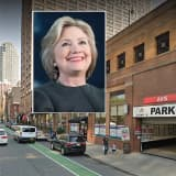 Clinton Van Clips Concrete Beam In Jersey City Garage En Route To Menendez Fundraiser