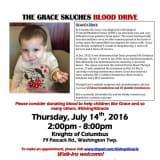 Washington Township Blood Drive To Benefit Toddler