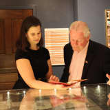 Fairfield's First Selectman Turns Page Of Rare Book At Pequot Library