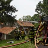 Crews Battle House Fire In Schwenksville