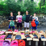 Kids Donate Backpacks To Needly Children In Jamaica
