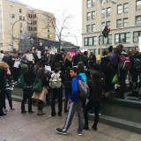 Mamaroneck Students Organize Protest At County Offices In White Plains