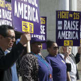 Labor Unions, Community Groups Rally In Danbury For Higher Wages