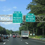 Detour Begins On I-95 Northbound Exit 14 Off-Ramp In Norwalk