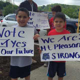 Mount Pleasant Residents Hold School Vote Rally, Support Write-In Candidate