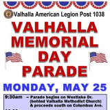 Valhalla American Legion To Have Memorial Day Parade