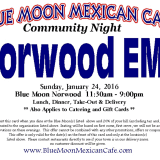 Dine At Norwood's Blue Moon Cafe To Benefit Local EMS