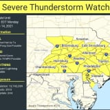NWS Issues Severe Thunderstorm Watches In PA, NJ, WV, DE, OH, MD