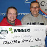 Fairfield Woman Wins $25K A Year For Life In Lottery Game