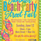 New City Celebrates Summer With Beach Party Street Fair