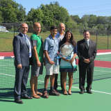 Yorktown Schools Show Off Renovated Tennis Courts
