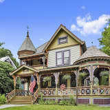 Colorful Bedford Home Features Royal Details