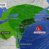 Projected Rainfall Totals Increase For Powerful Nor'easter Which Could Bring 60 MPH Wind Gusts