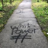 Photos: Racist Graffiti Found On Path Off Parkway In Westchester