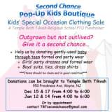 Kids Clothing Sale At Wayne Synagogue