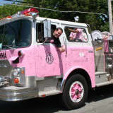 Pink Fire Truck Rolls Into Woodcliff Lake For Cancer Fundraiser
