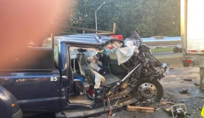 Pickup Truck Driver Extricated After I-95 Crash In Norwalk