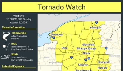 Tornado Watch Issued, With 70 MPH Wind Gusts, Large Hail Also Possible