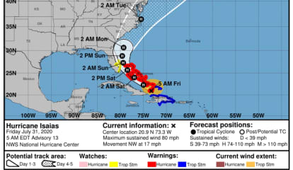 Isaias Becomes Hurricane: Here's Latest Projected Path