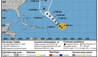 Teddy Strengthens Over Atlantic, Expected To Be Major Hurricane