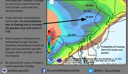 Storm System Bringing Wintry Mix To Region, Could Make For Slippery Commute Tuesday