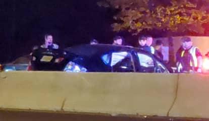 Police Eye Why Sedan Barreled Through Dunkin Donuts Lot, Crashed On Route 1 Near GWB