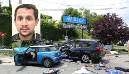 Driver Of Airborne Mini Cooper That Slammed Into Minivan On Route 17 Identified, Charged