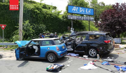 Mini Cooper Goes Airborne, Slams Into Minivan On Route 17, Leaves Other Driver Gravely Injured