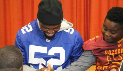 Pros Prove To Be 'Giants' In Teaching Student-Athletes About Respect In Westchester