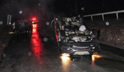 Motorist Rushed To Westchester Medical Center After Rollover Crash