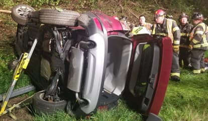 Woman Extricated In Two-Vehicle I-84 Crash