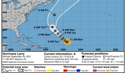 Hurricane Larry Should Make Waves, Blow Some Wind, But That's Most Likely It, Forecasters Say