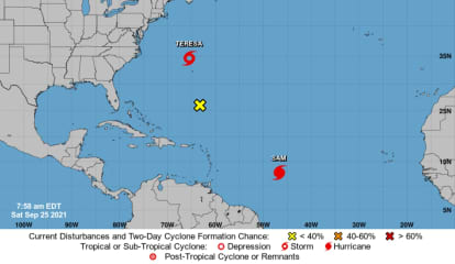 Sam Expected To Reach Cat 4 Status With Two Possible Paths; Teresa Becomes 19th Named Storm