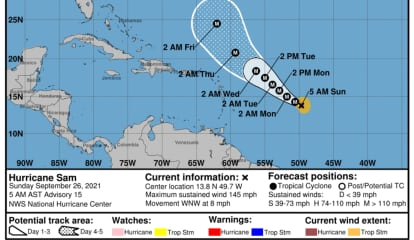 Sam Now A Monster Category 4 Hurricane With 145 MPH Winds; Latest Projected Path