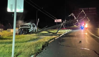 UPDATE: Utility Pole Split, Juvenile Passenger Hospitalized In Route 17 Crash
