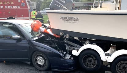Maywood Driver, 54, Critically Injured After Rear-Ending Towed Boat On Route 17