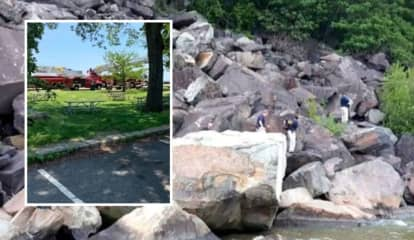 RISKY RESCUE: Rappel Team Above, Officers Below Pluck Trapped Female Trio From Palisades