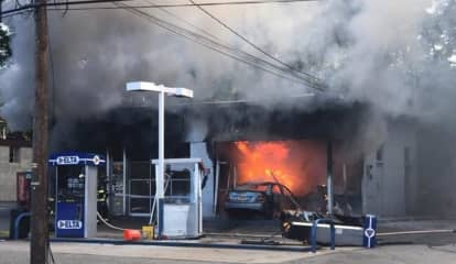 Ramsey Gas Station Blaze: Driver, 44, OK After Car Plows Through Pumps