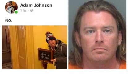 Smiling 'Podium Guy' From Capitol Riot Arrested On Federal Warrant In Florida